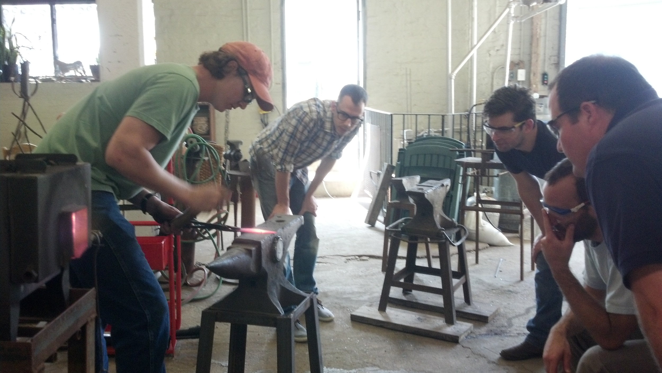 Knife making workshop with Charles Cooper at She-Weld