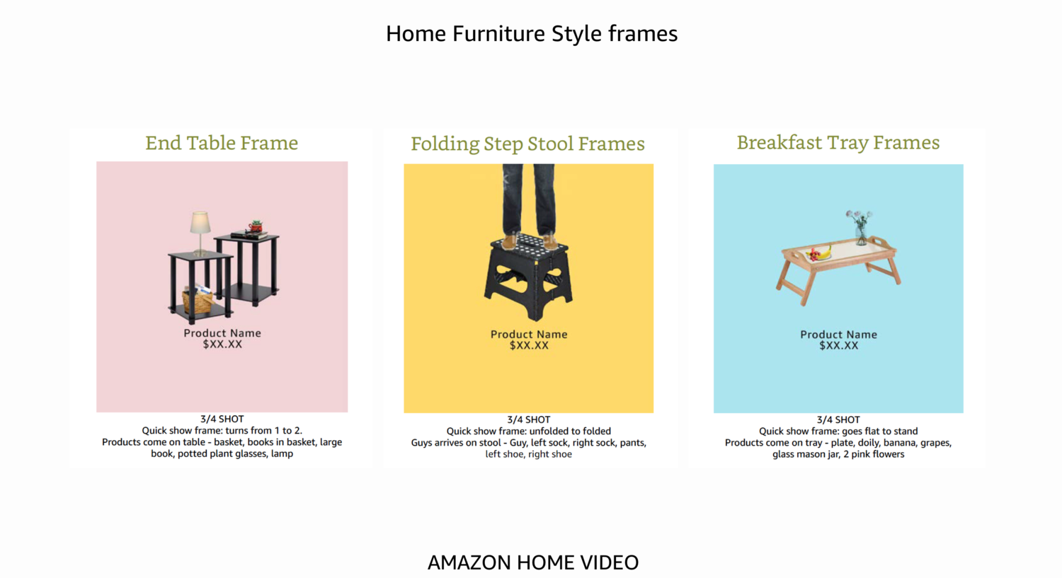 Amazon Furniture Stop-Motion YouTube Ad Style Frames    Art Direction   August 2017
