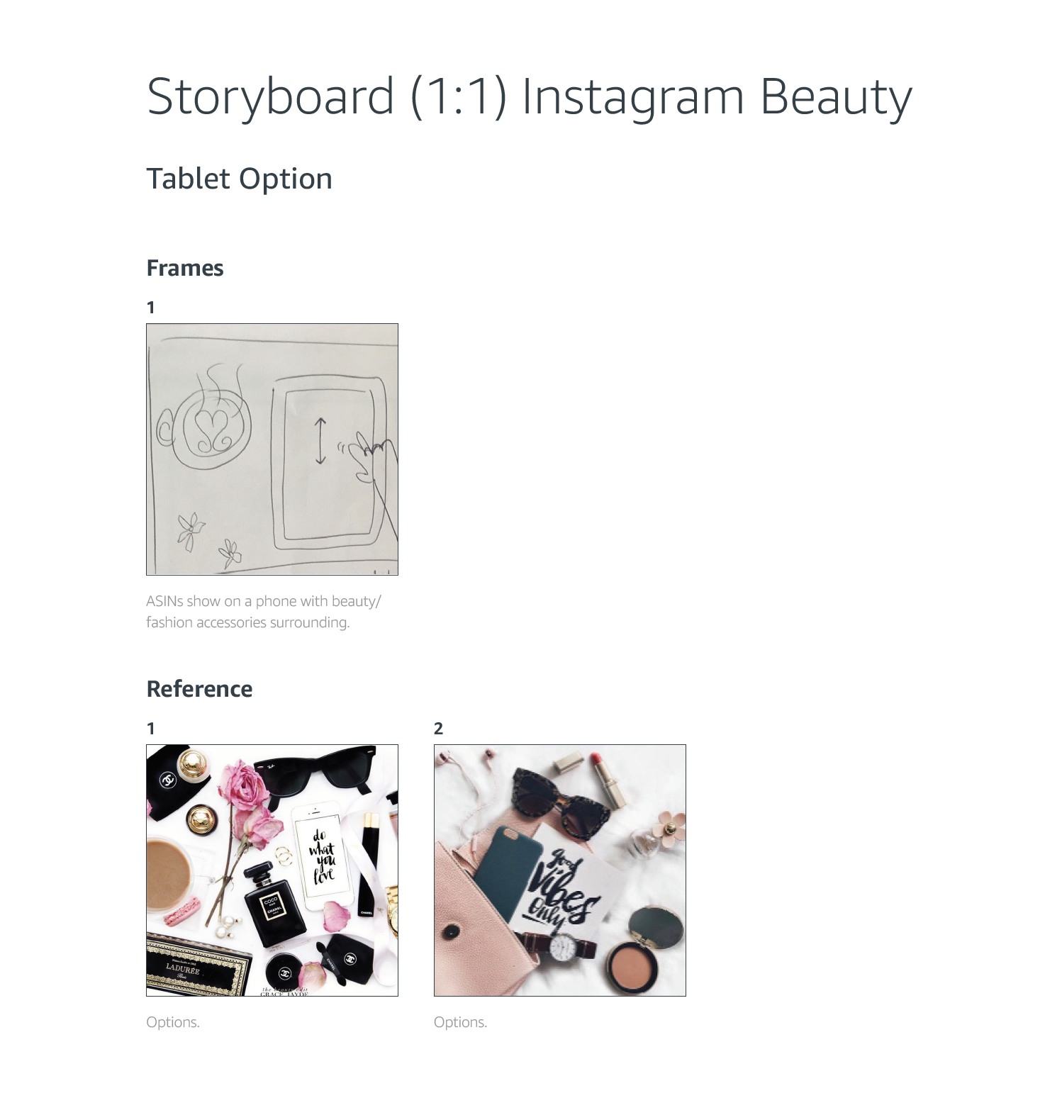 Amazon Instagram Template Influencer Beauty Keyframe    Motion Designer   August 2018