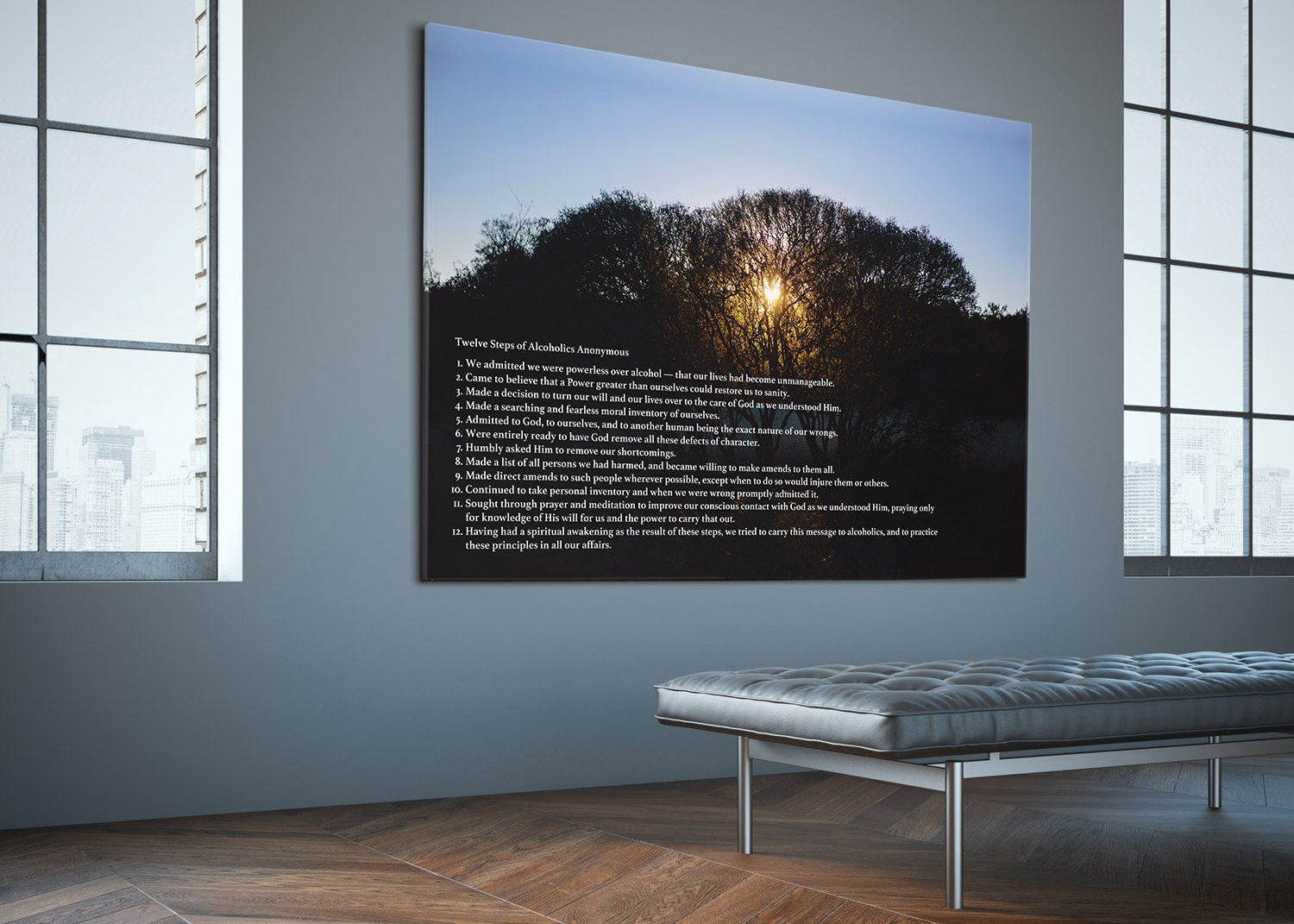 Stretch canvas print Custom 84x60 Waiting Area.jpg