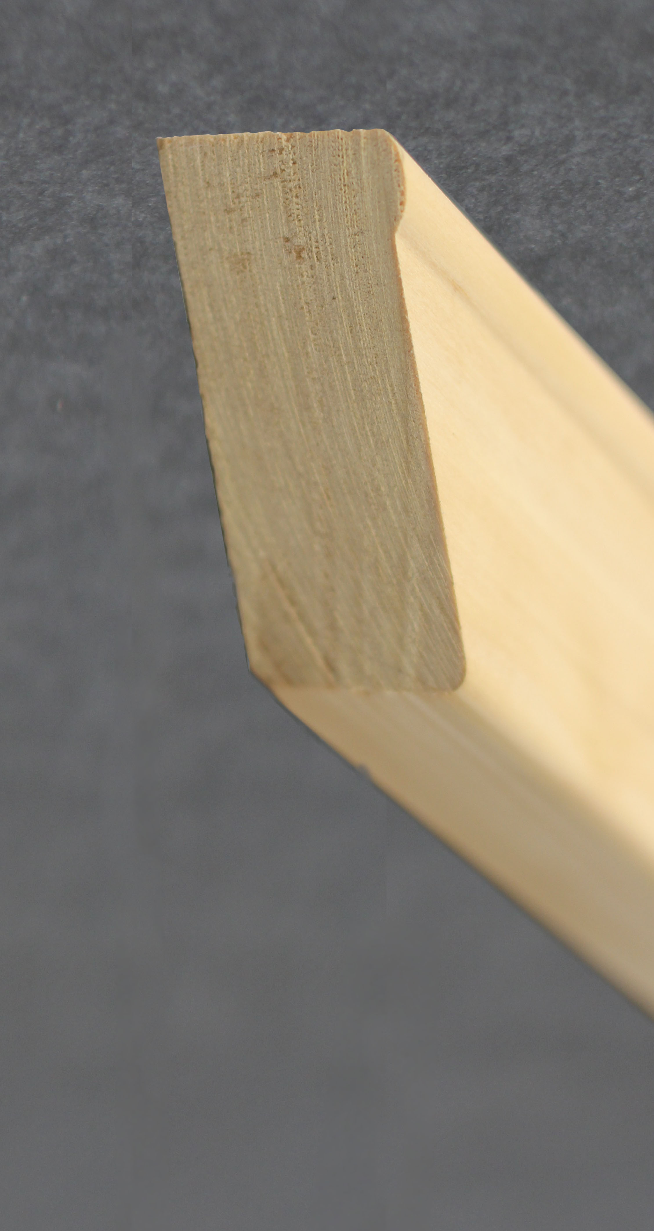 Our patented raised edge framing material.