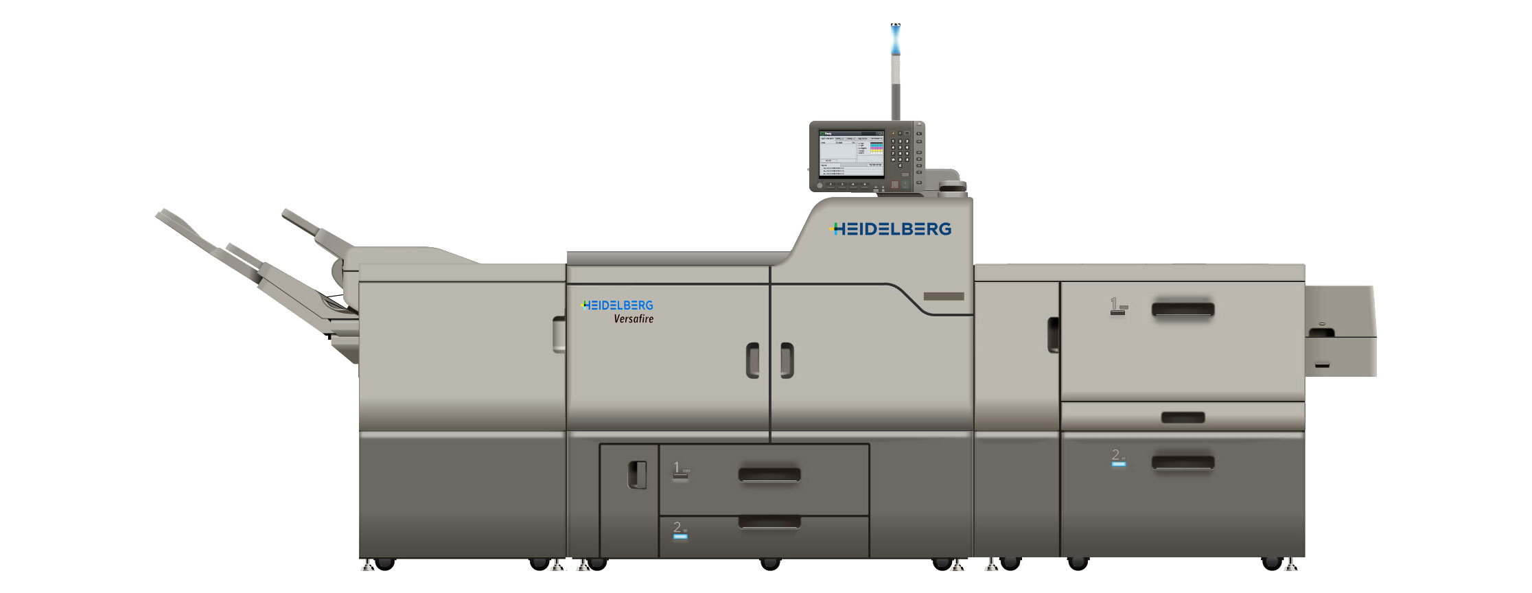 The Heidelberg Versafire CV, the newest member to our Heidelberg press family.