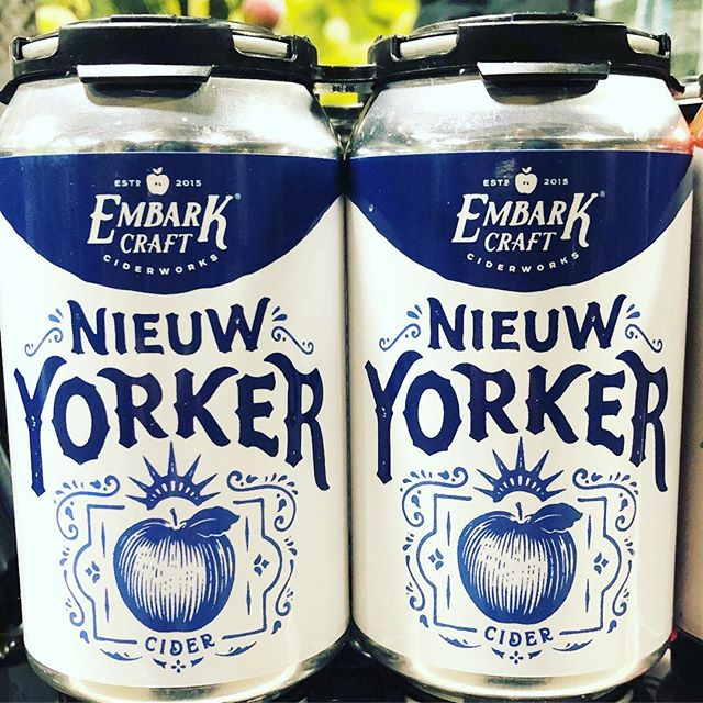 You can now find our off dry Nieuw Yorker cider at @wegmans. 4 different apples founded in NY (Jonathan, Northern Spy, Macoun, Liberty) fermented separately with 3  different yeast strains blended together. And yes we play on our Dutch heritage with the spelling and colors!