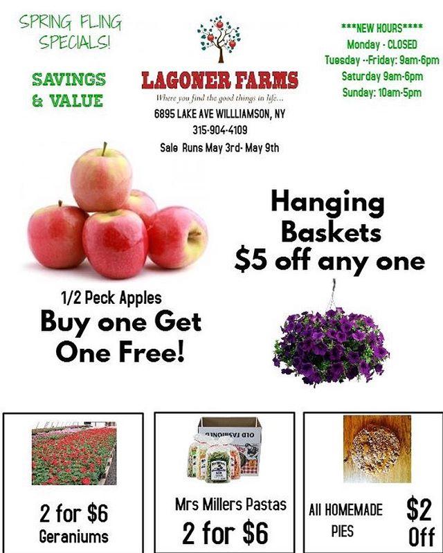 Spring Fling deals. Starting May 3-9th!