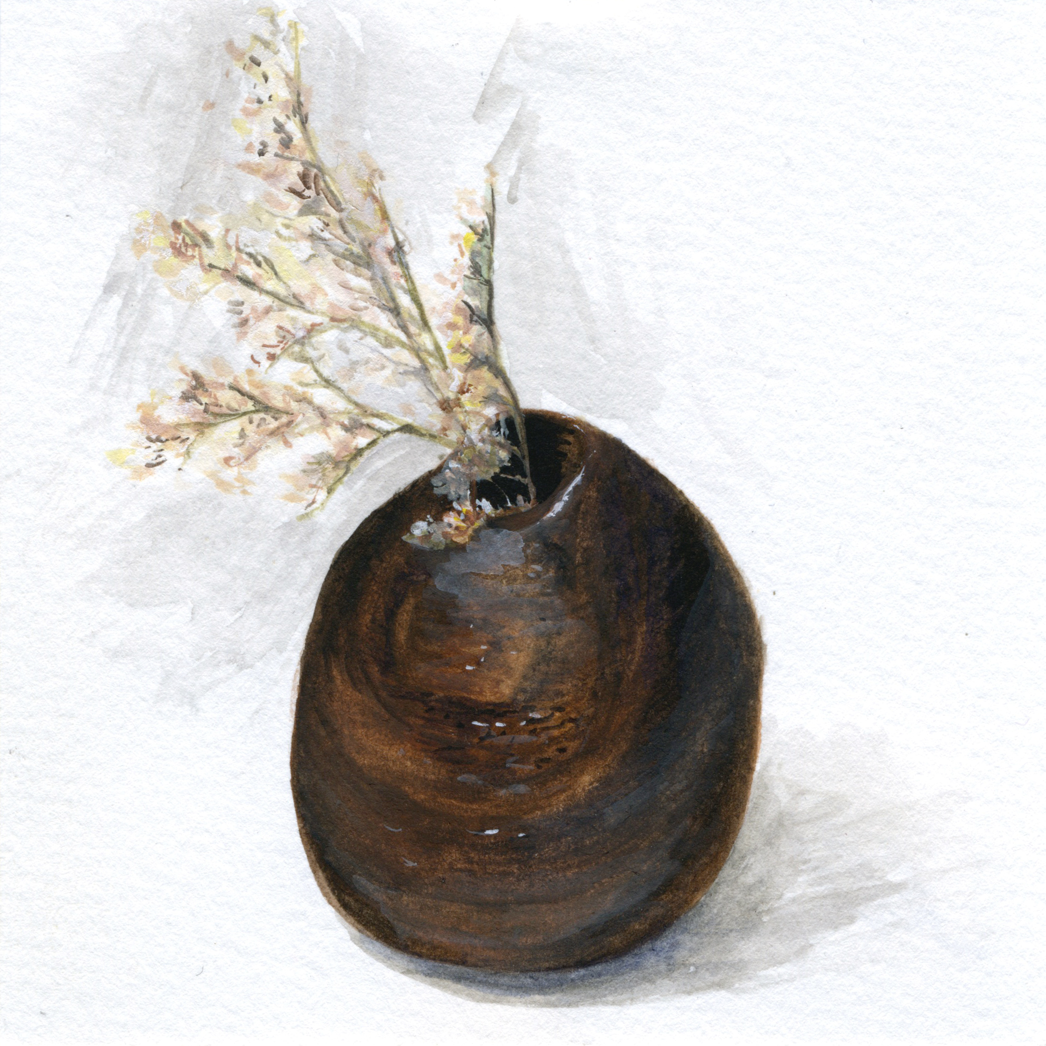 Little Paintings of my Favorite Things #6 - Wooden Vase