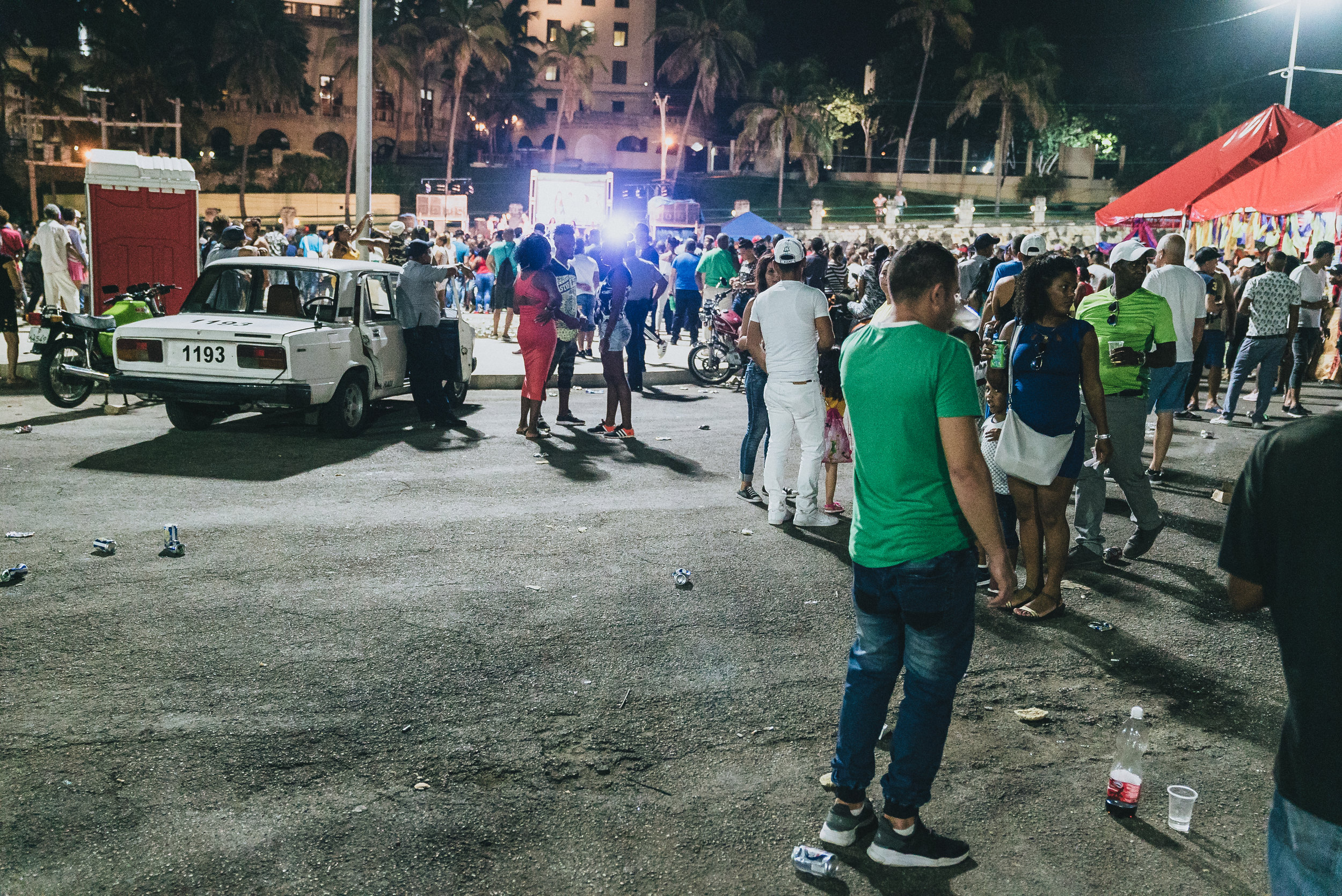 Music is huge in Cuba. This is from an outdoor concert.