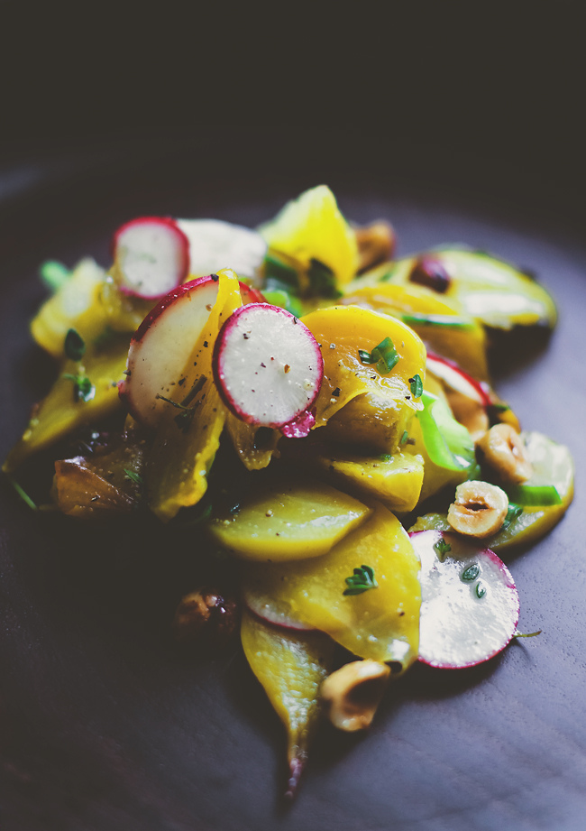 Golden Beets with Hazelnuts  from Six Course Dinner