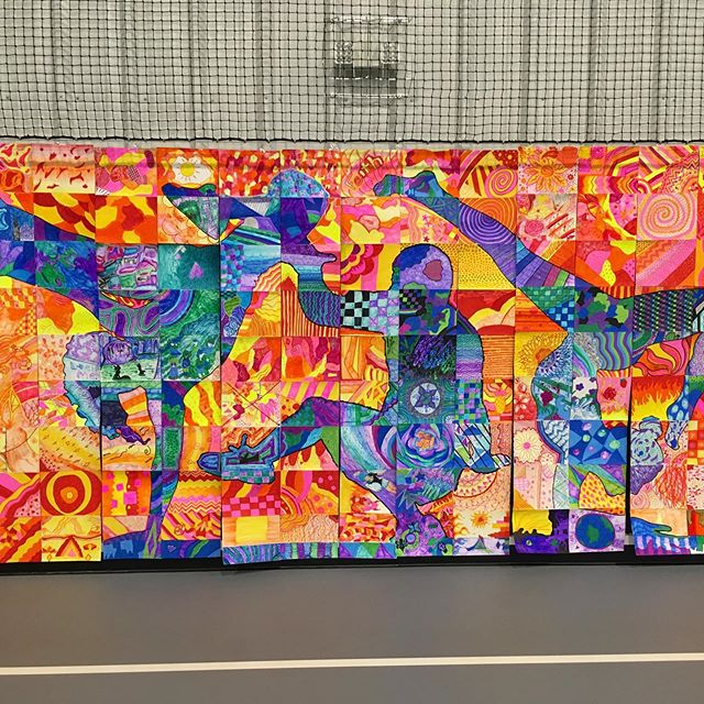 Perry Arts Day collab mural project