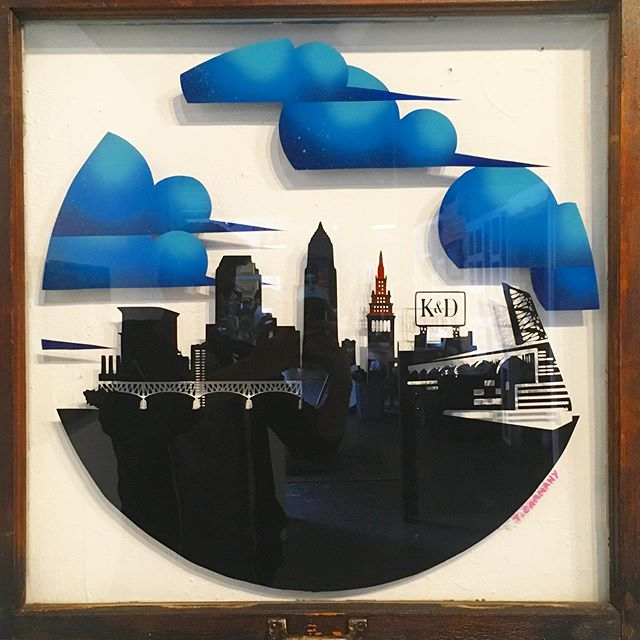 Custom Cleveland skyline commission. Huge thanks to @arrowhead_dave for helping put these together in a hurry.
