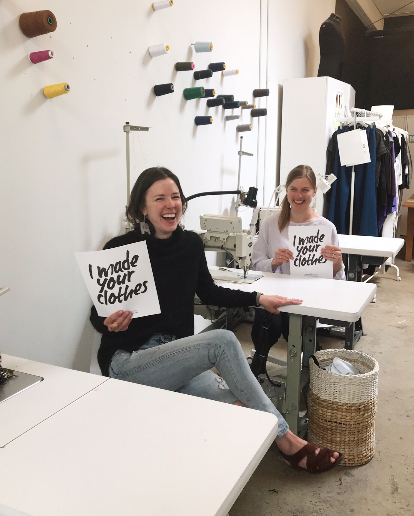 Kathryn (founder) and Marcia (production manager) of Winsome Goods