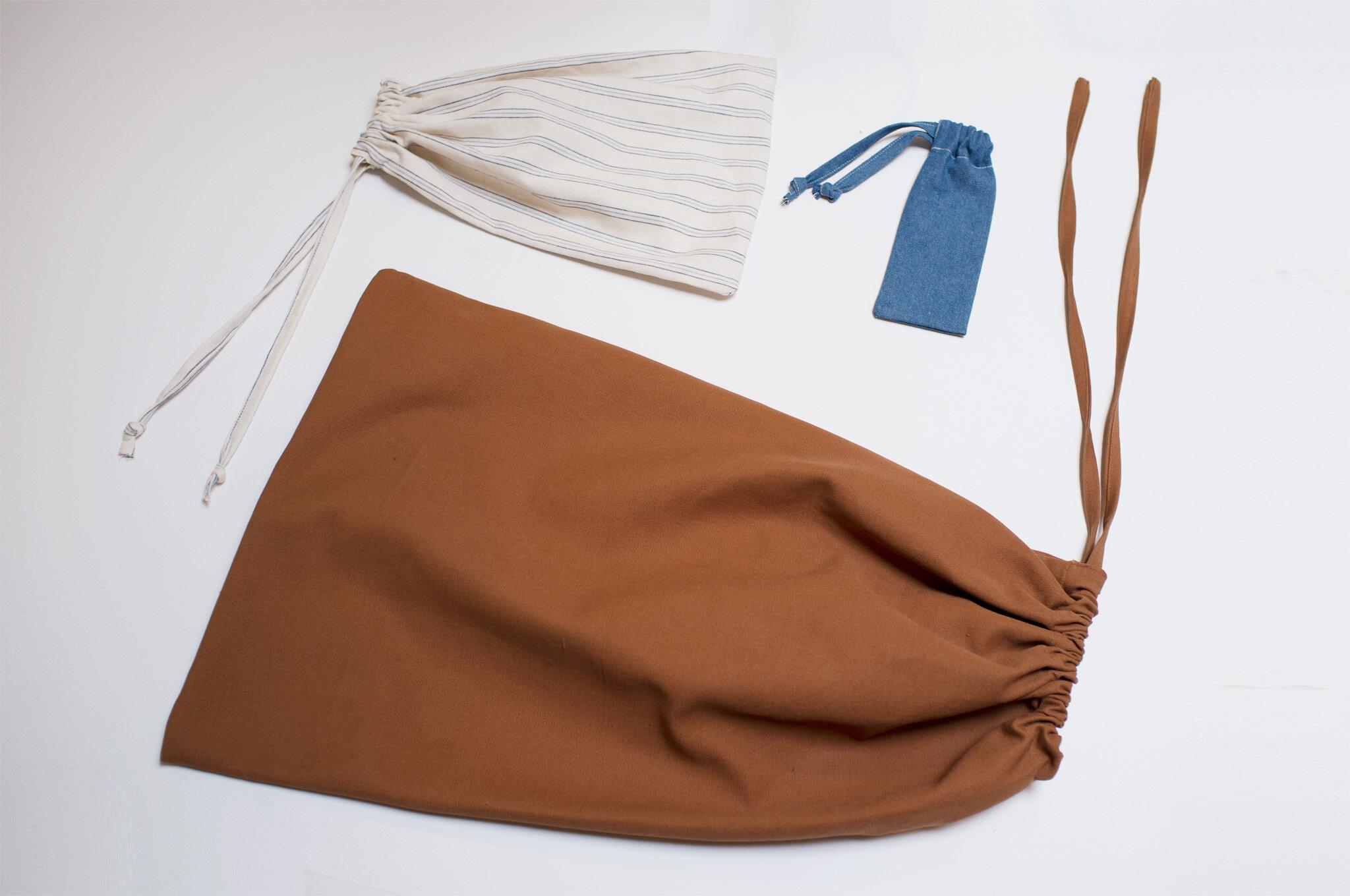 How to Sew the Basic Drawstring Bag - beginner level