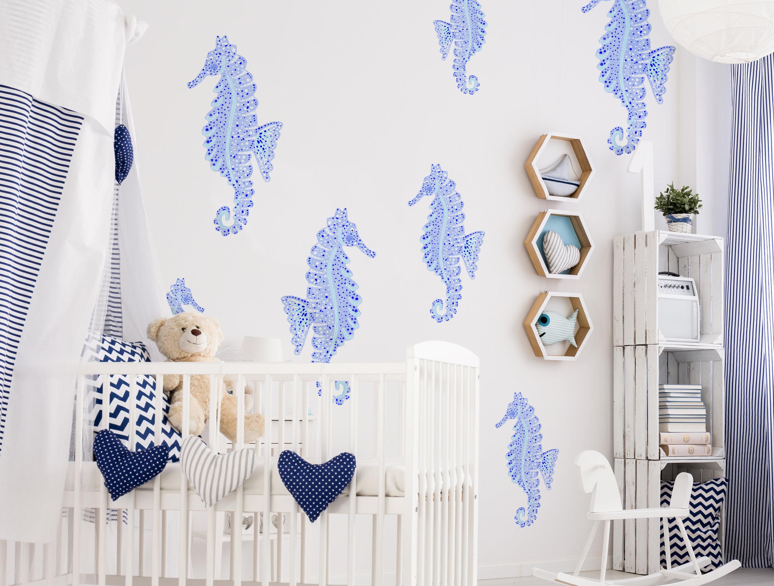 Roomview-Seahorse-painted-maryclare-wilkie-urbanwalls.jpg