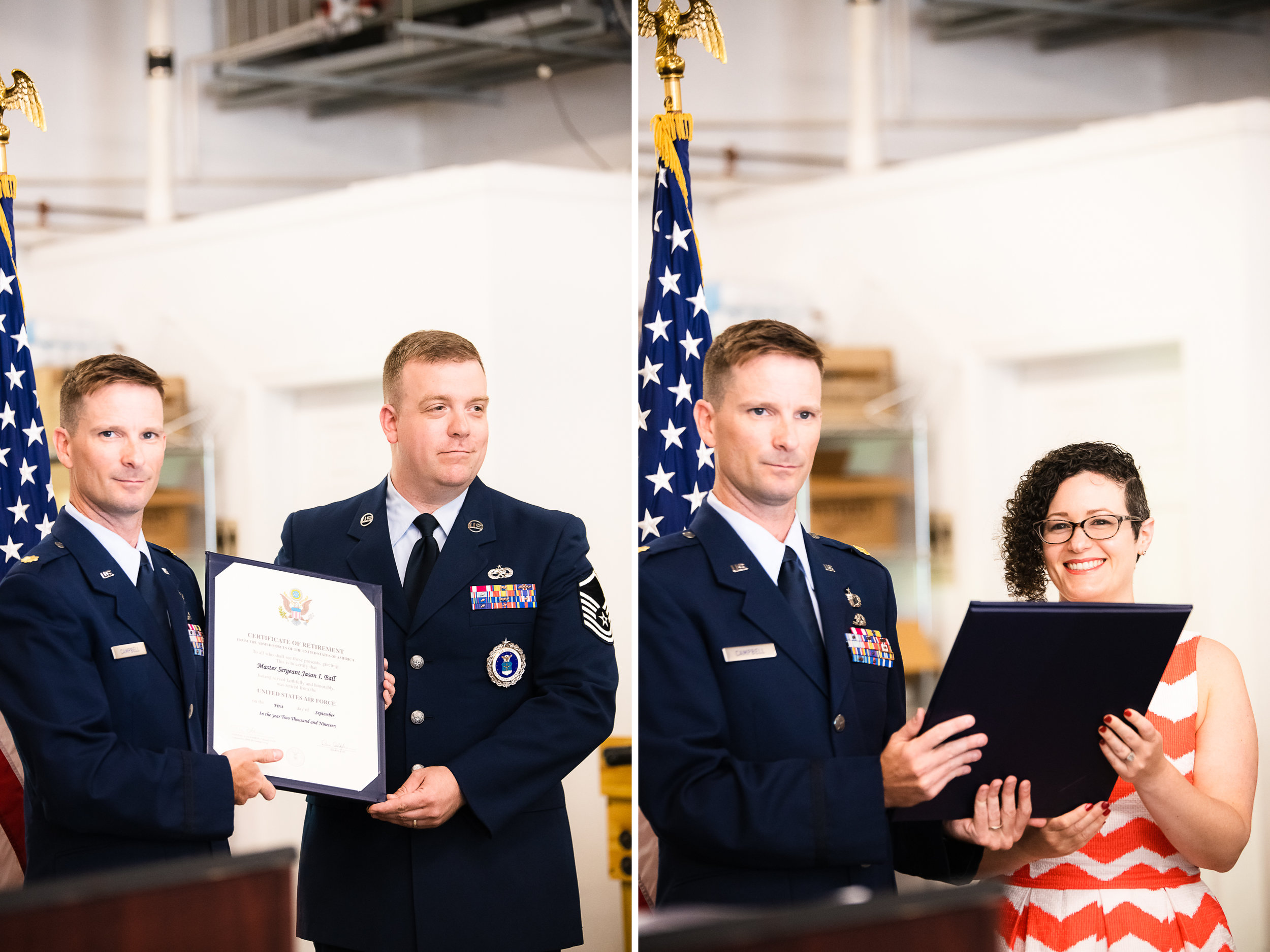 Air Force Retirement Ceremony at Scorpion Brewing Company