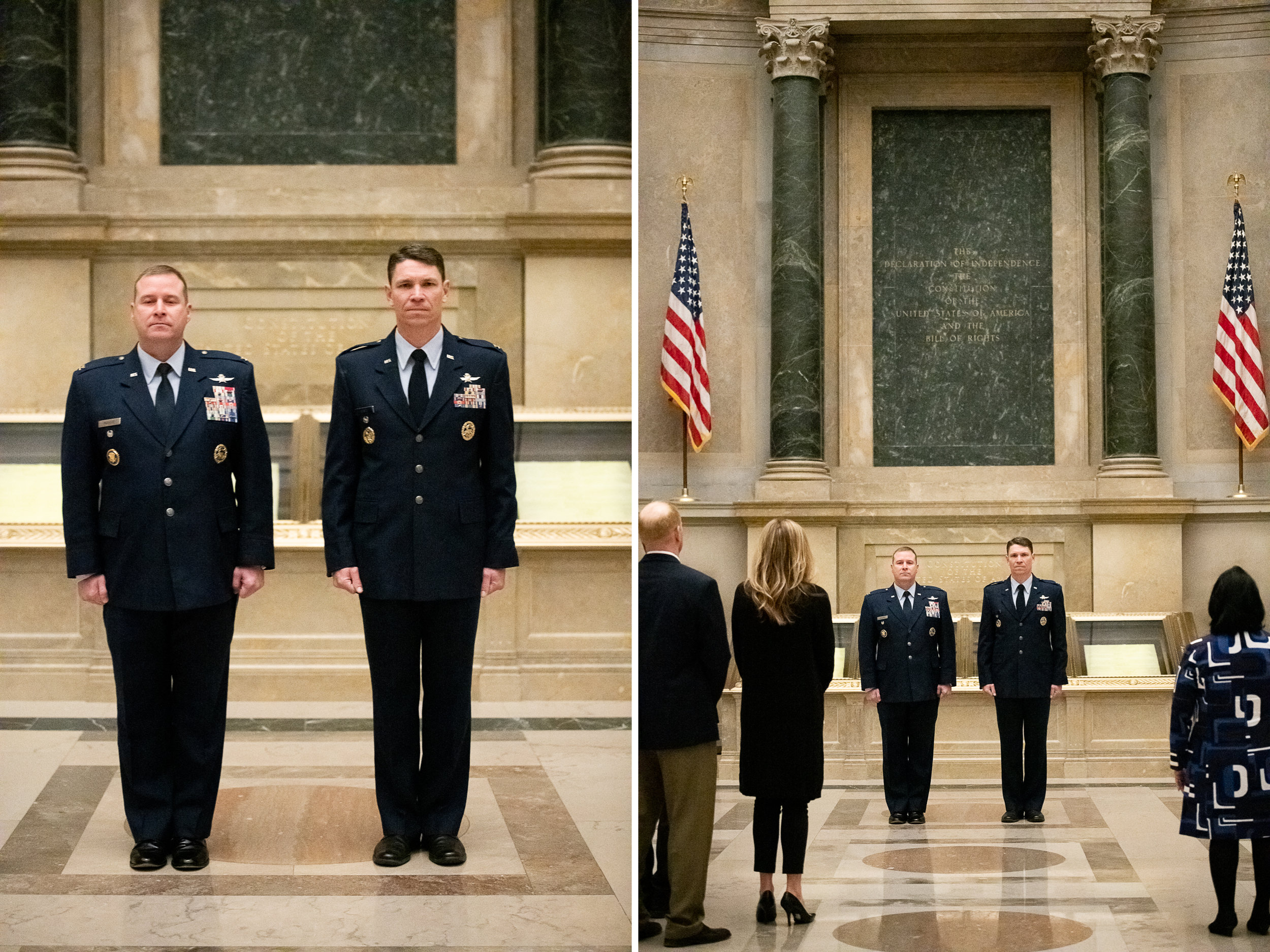 Military Promotion Ceremony at The National Archives in Washington DC photography