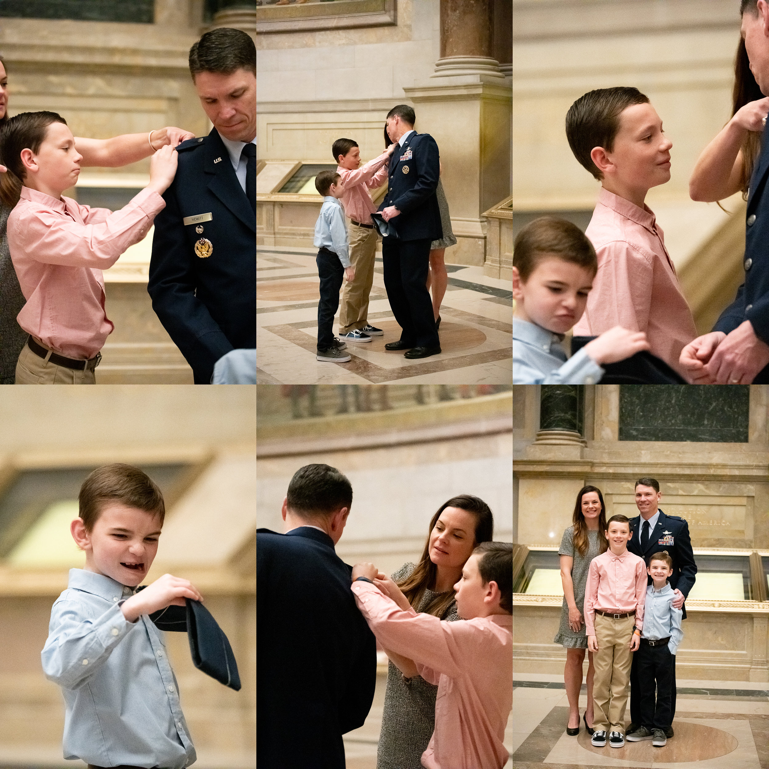 Military Promotion Ceremony at The National Archives in Washington DC