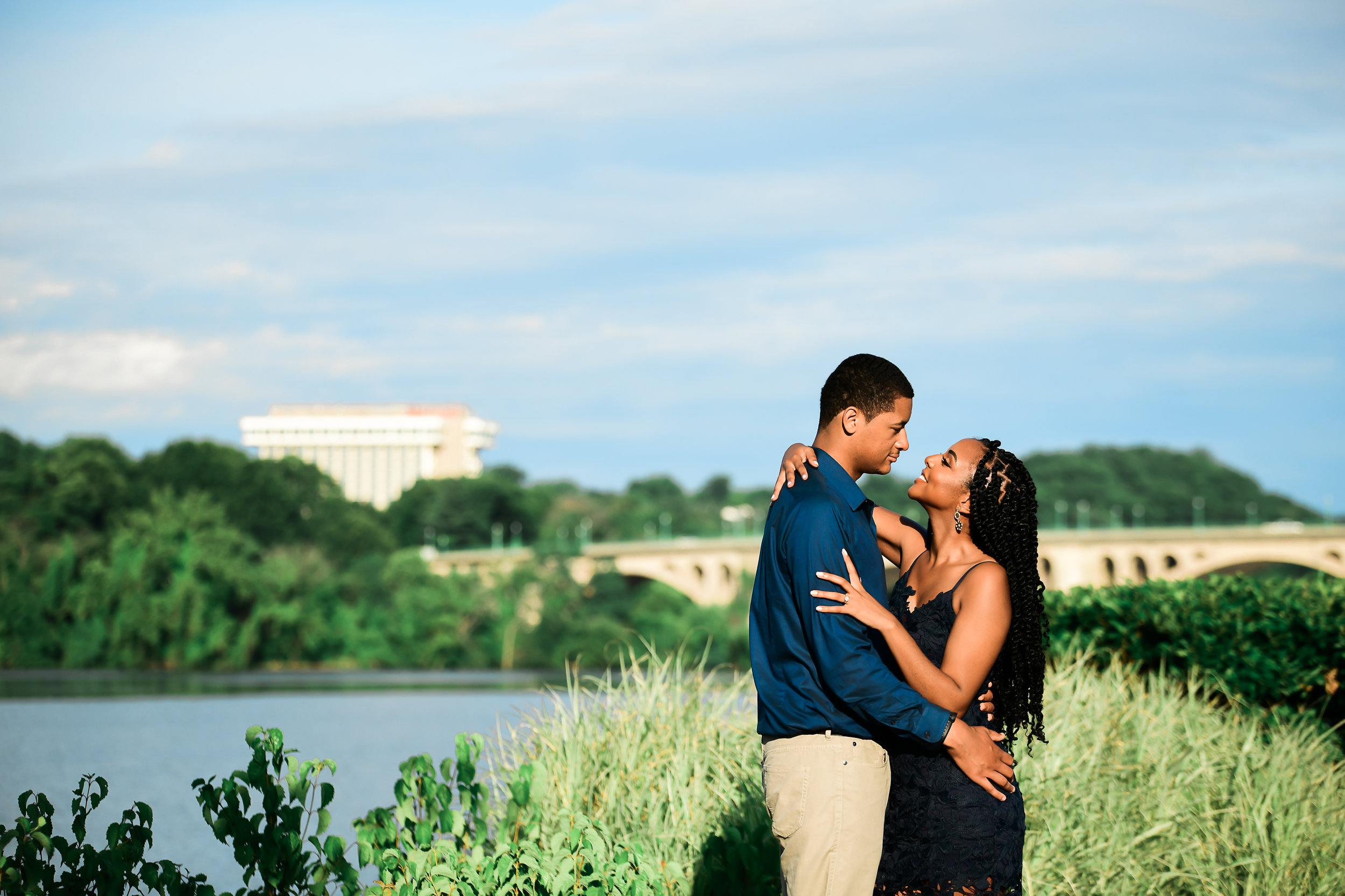 Engagement session in summertime Georgetown