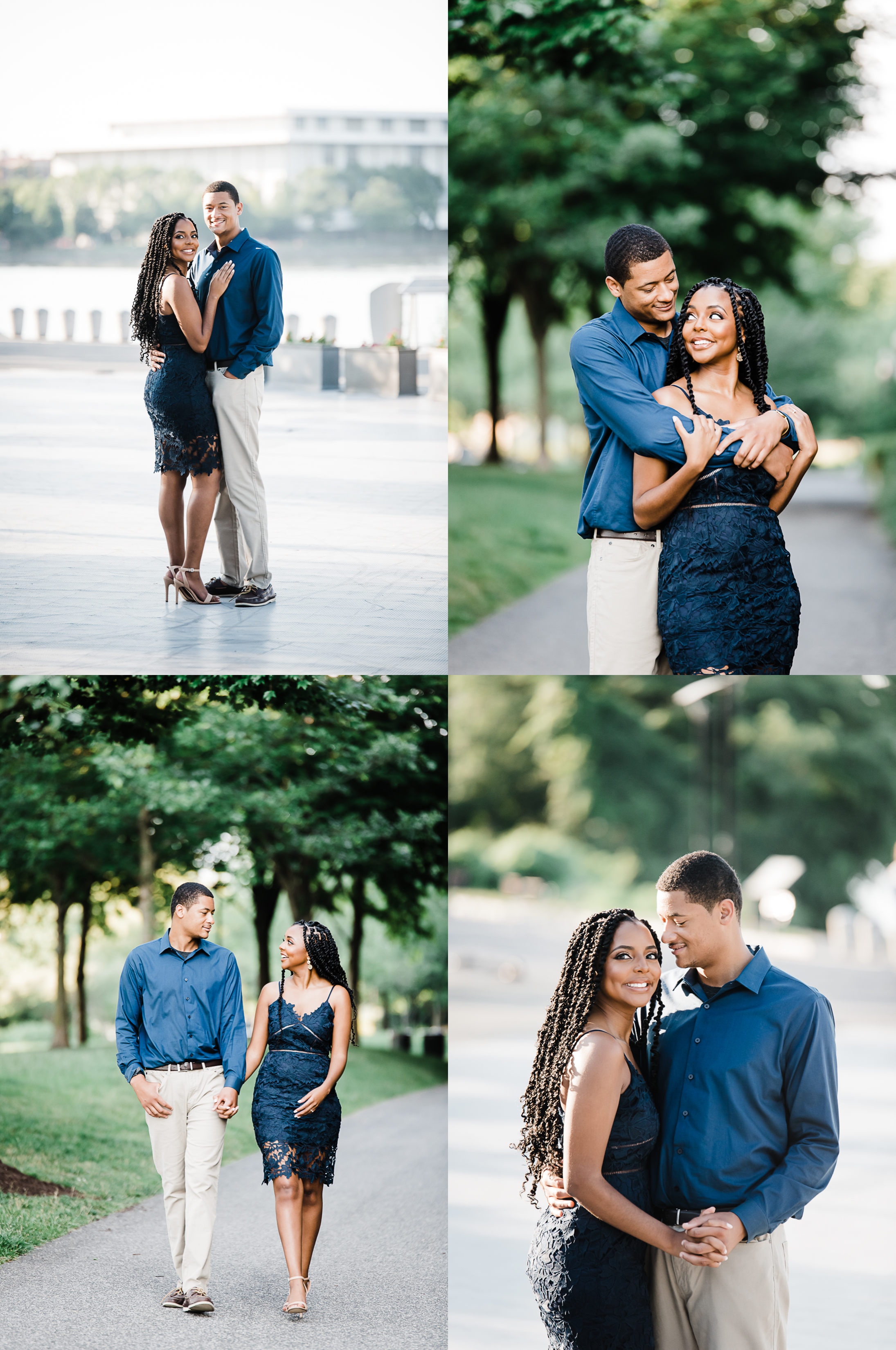 Engagement session at the Georgetown Waterfront in Washington DC