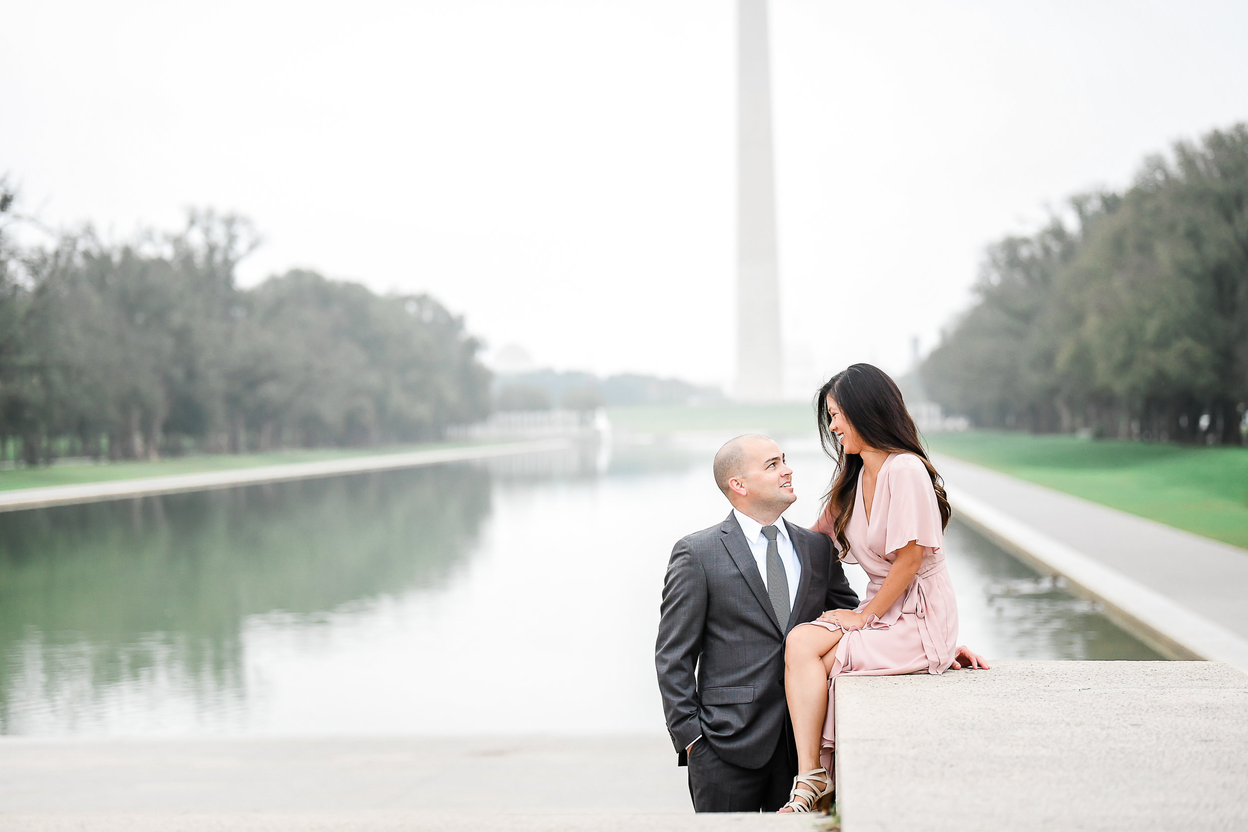 couple photography at the national mall