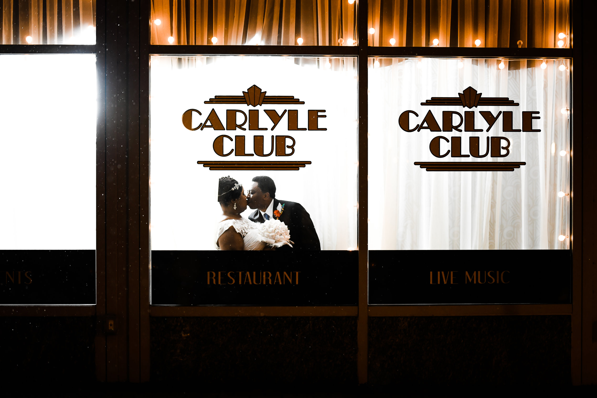 Wedding photographer at the Carlyle Club in VA