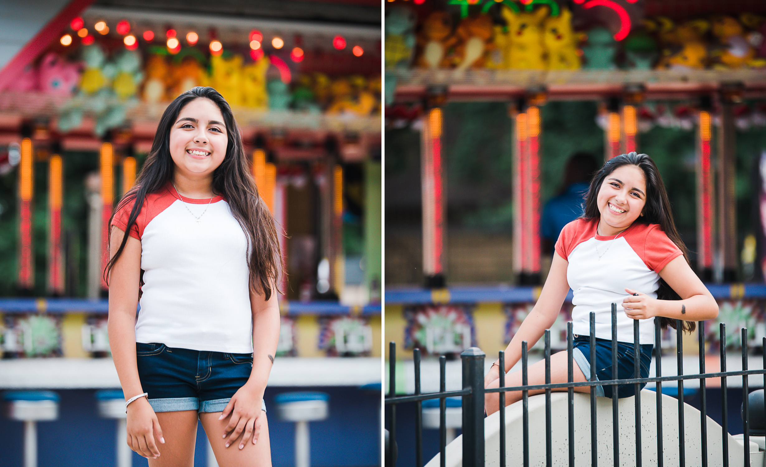 amusement park photo shoot in Maryland