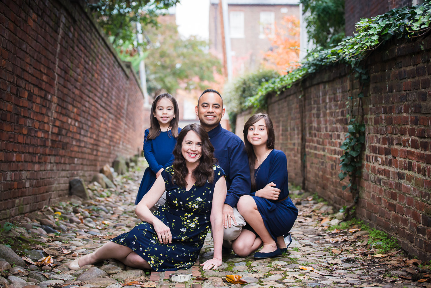 The P. Family in Old Town Alexandria