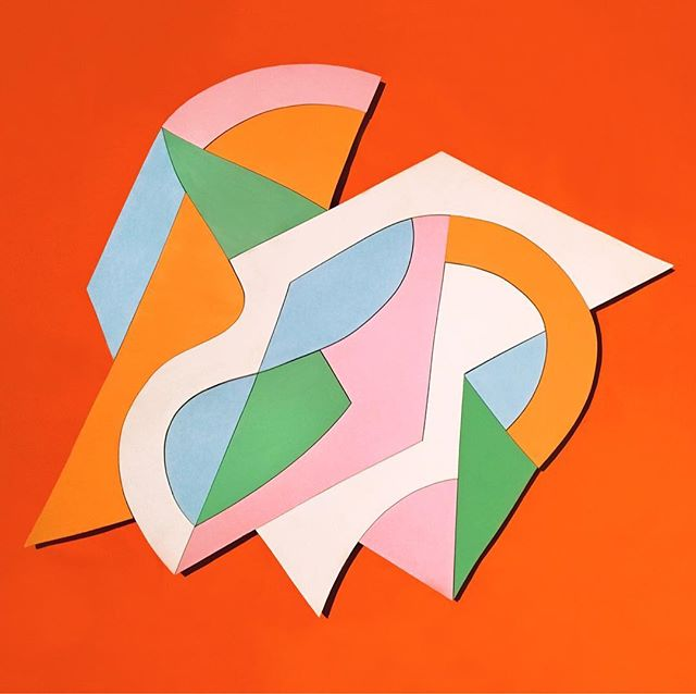 """Paint on cut wood, approximately 30""""x30"""""""