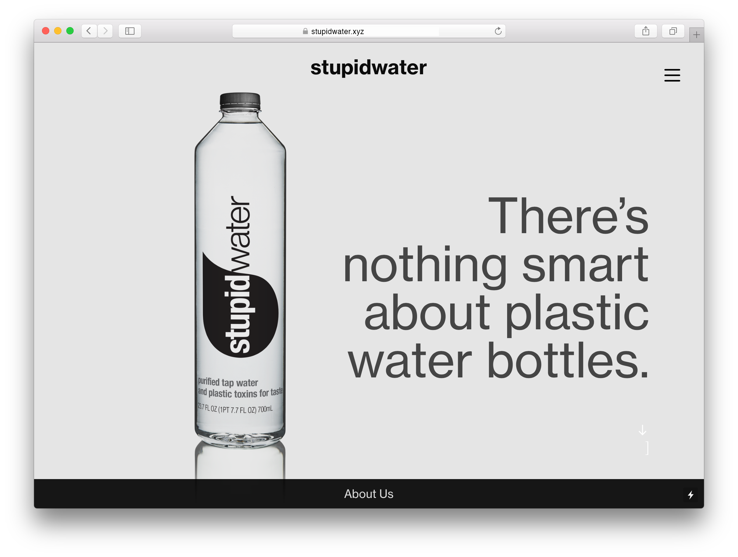 stupidwater microsite.png