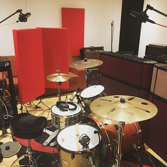 A fun day of mostly drum recording with @kickinggraves, 3 of their newer tracks following their debut EP recorded here 2 years ago. We've all come a long way in that time, hopefully will be ready to be heard soon! #brightonmetalscene #brightonmetal #brightonmusicscene #brightonrocks