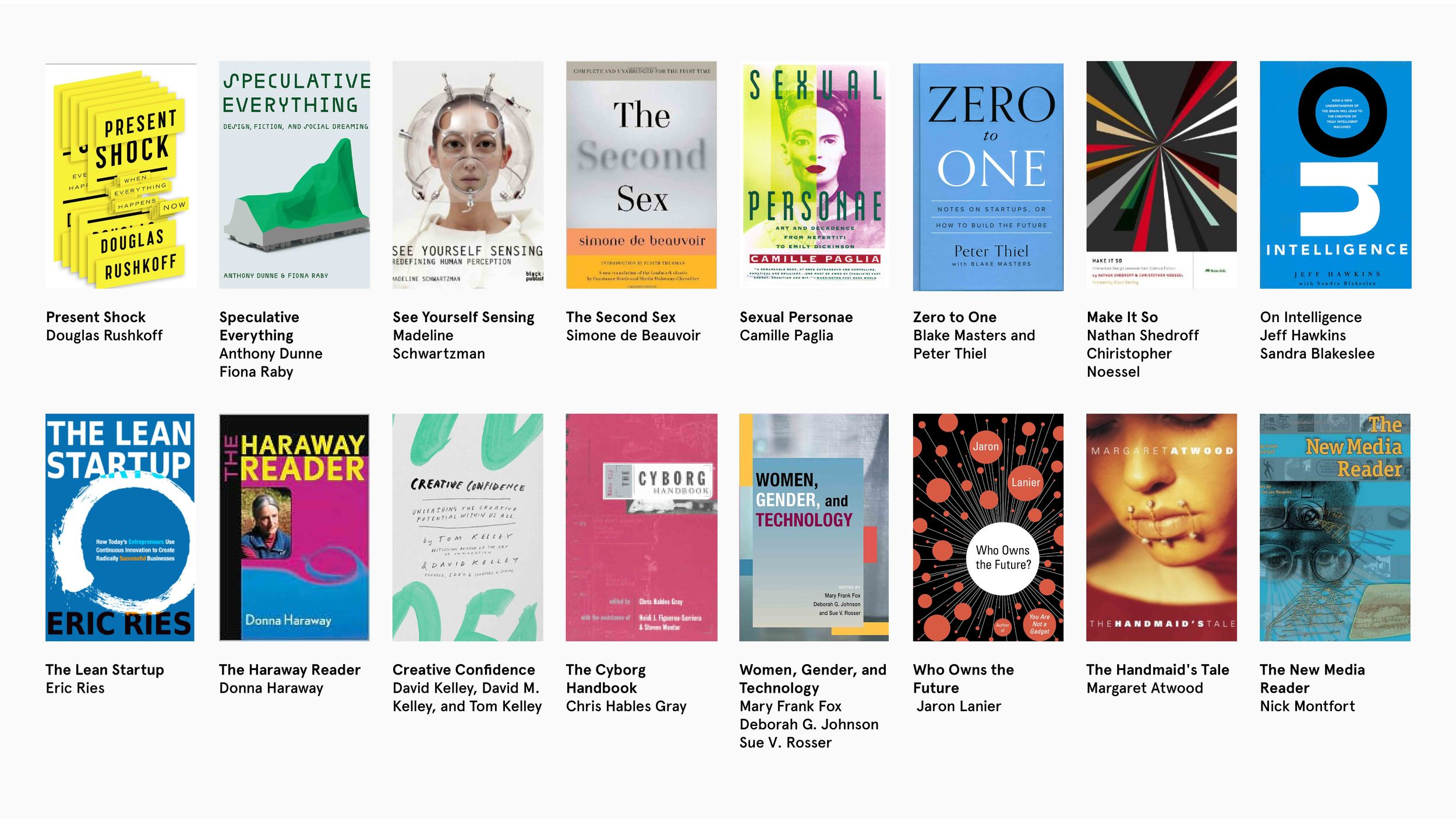Books about women and technology.