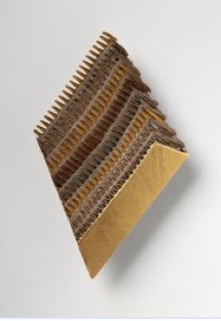 Francesco Pavan,   Brooch   1986  Die Neue Sammlung – The International Design Museum Munich – On permanent loan from the Danner-Stiftung, Munich  Gold, silver, white copper, copper  Photo: Die Neue Sammlung – The International Design Museum Munich