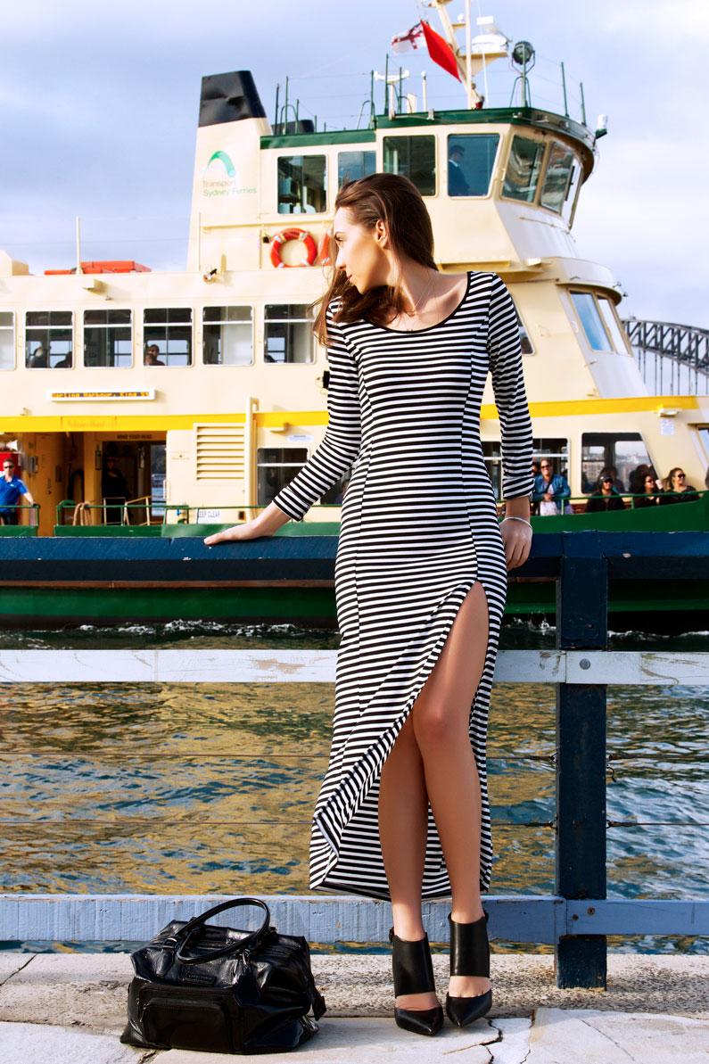 horizontal-striped-dress