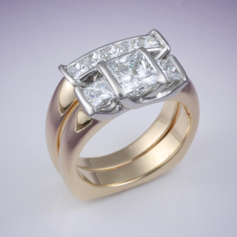 Eight Diamond Wedding Set