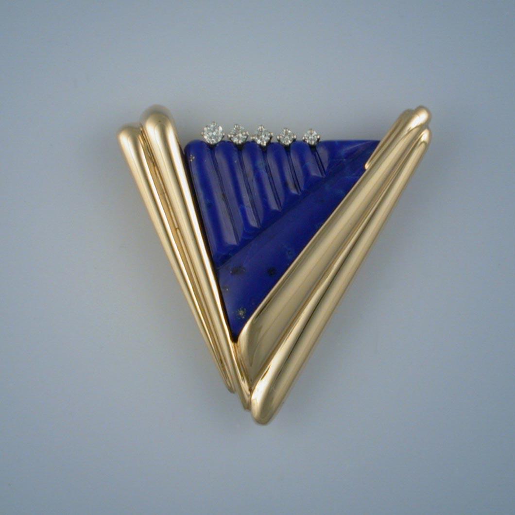 Lapis Lazuli Pin