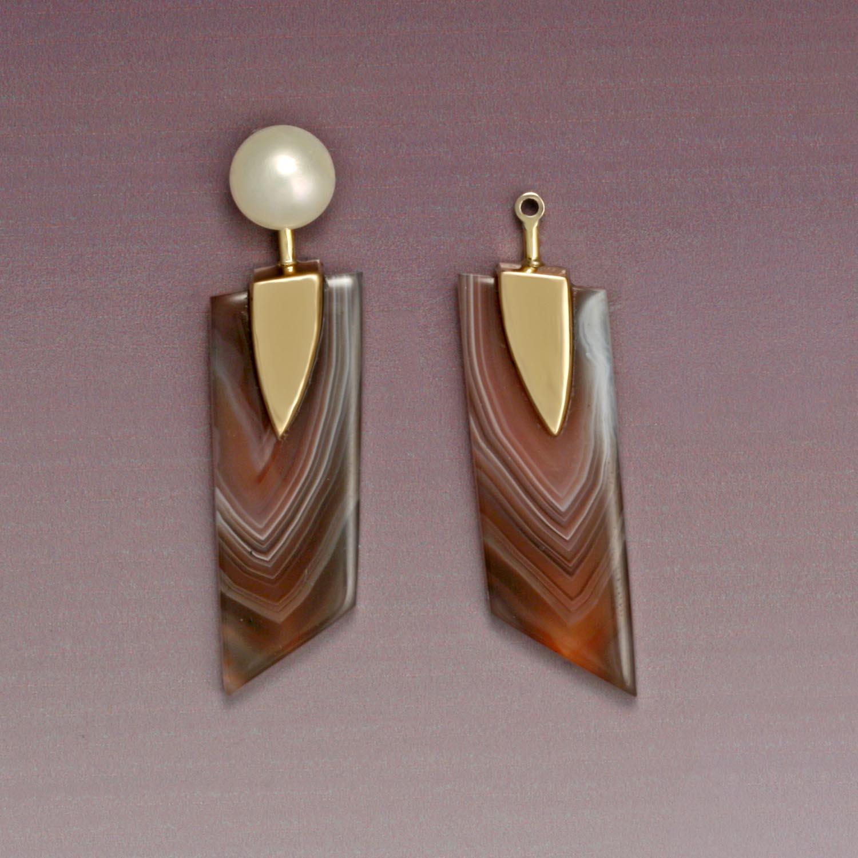 Agate Earring Jackets