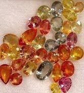 Fall colored sapphires, September Birthstones