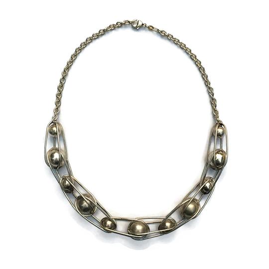 Ball Bearing Neckpiece, sterling silver