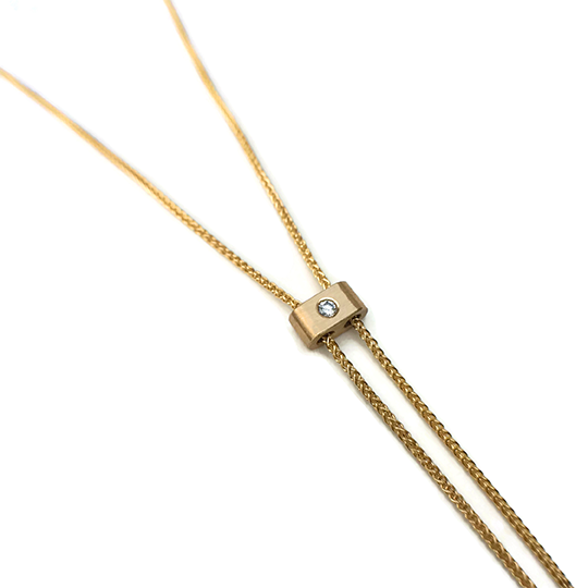 14 karat Bolo necklace with diamond
