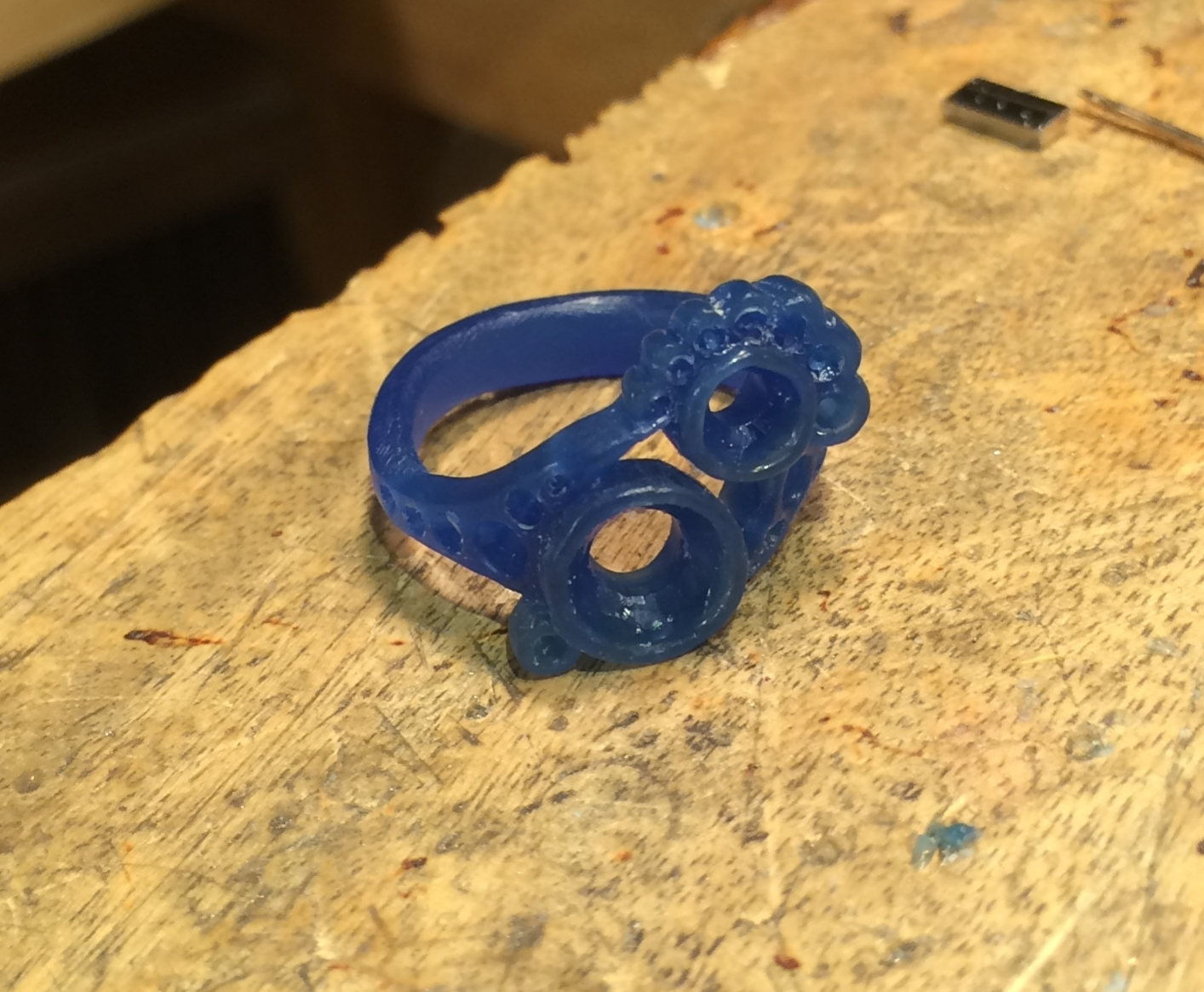 Final wax ring design ready to cast.
