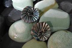 Abalone swirl earrings