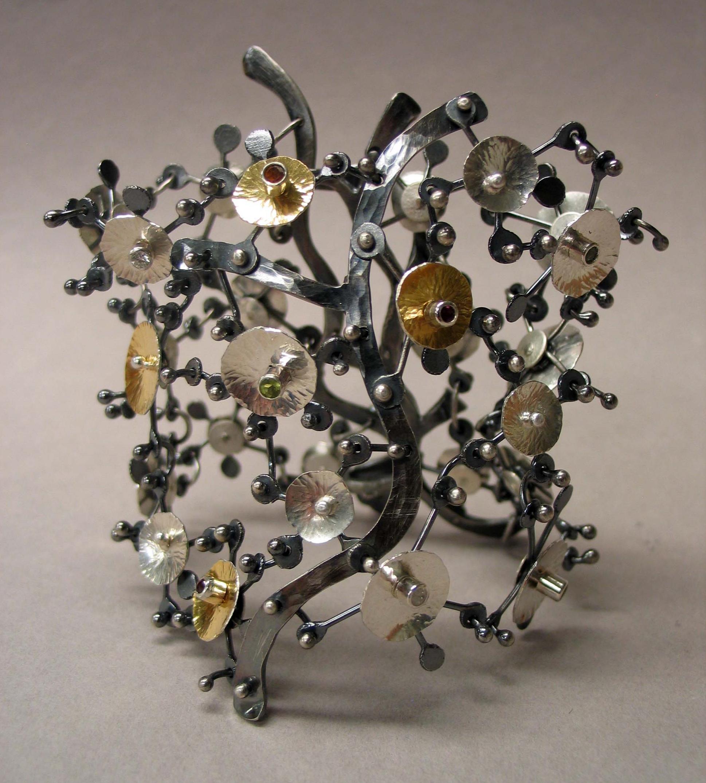 """Wildflowers Meet Chain Maille"" bracelet"