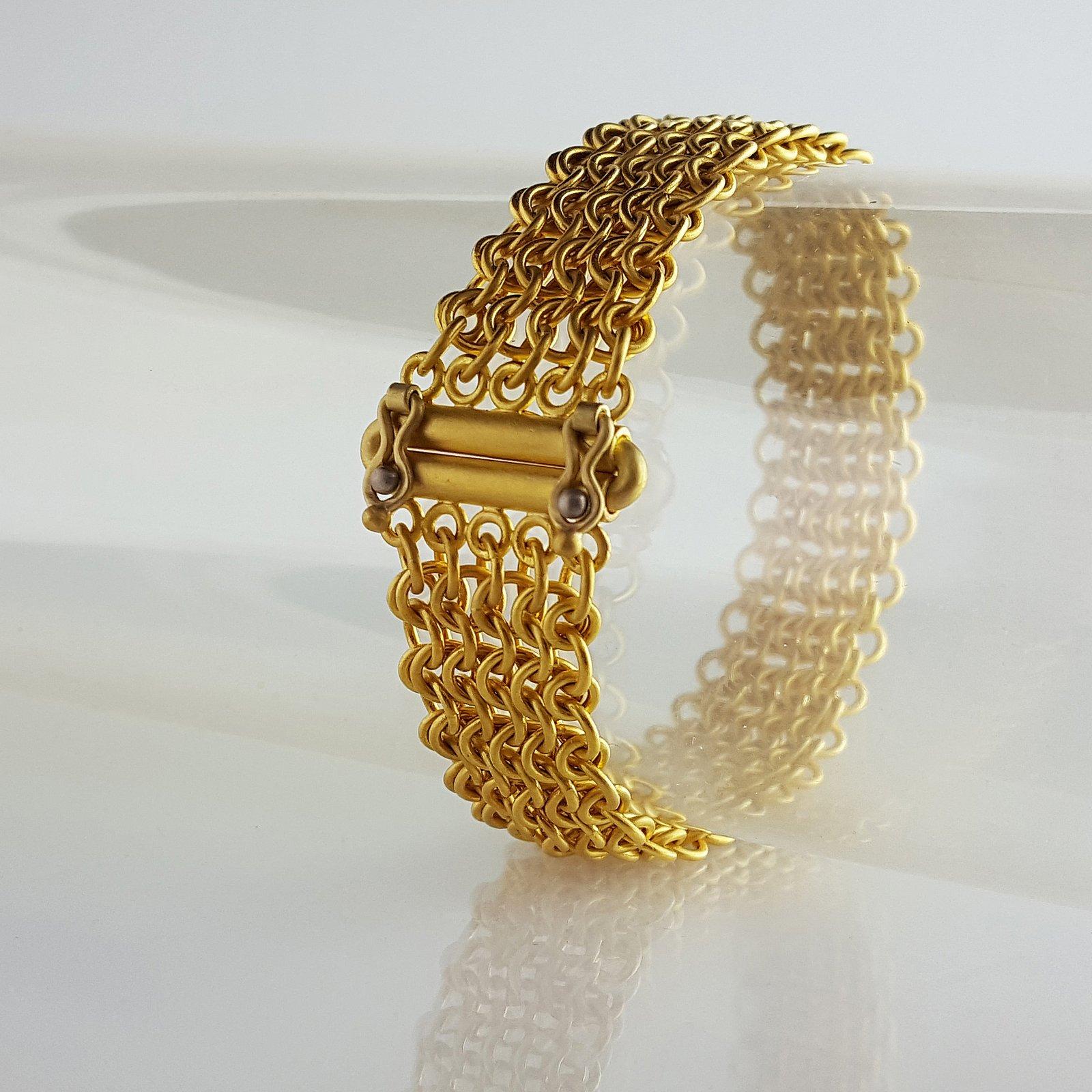 22k Mesh Chain Maille Bracelet