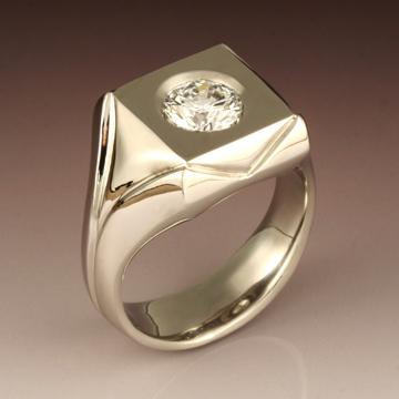 Diamond Flat Top Ring