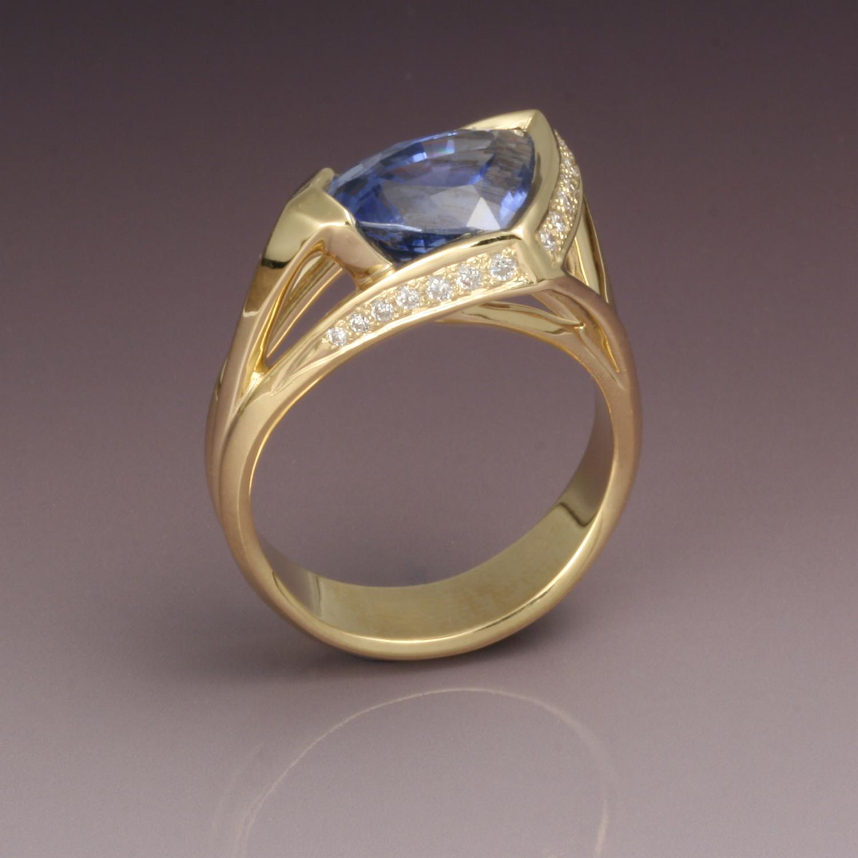 Triangular Sapphire Ring