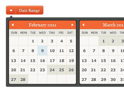 Date selector