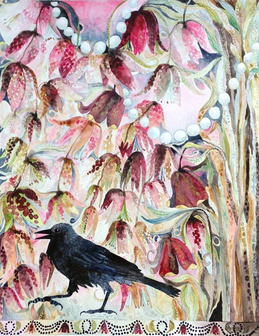 Fritillarias & Crow
