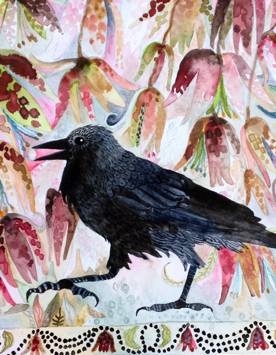Fritillarias & Crow Detail