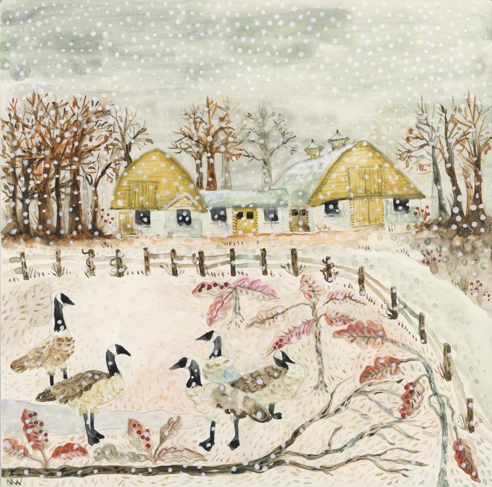 Winter Barns andGeese