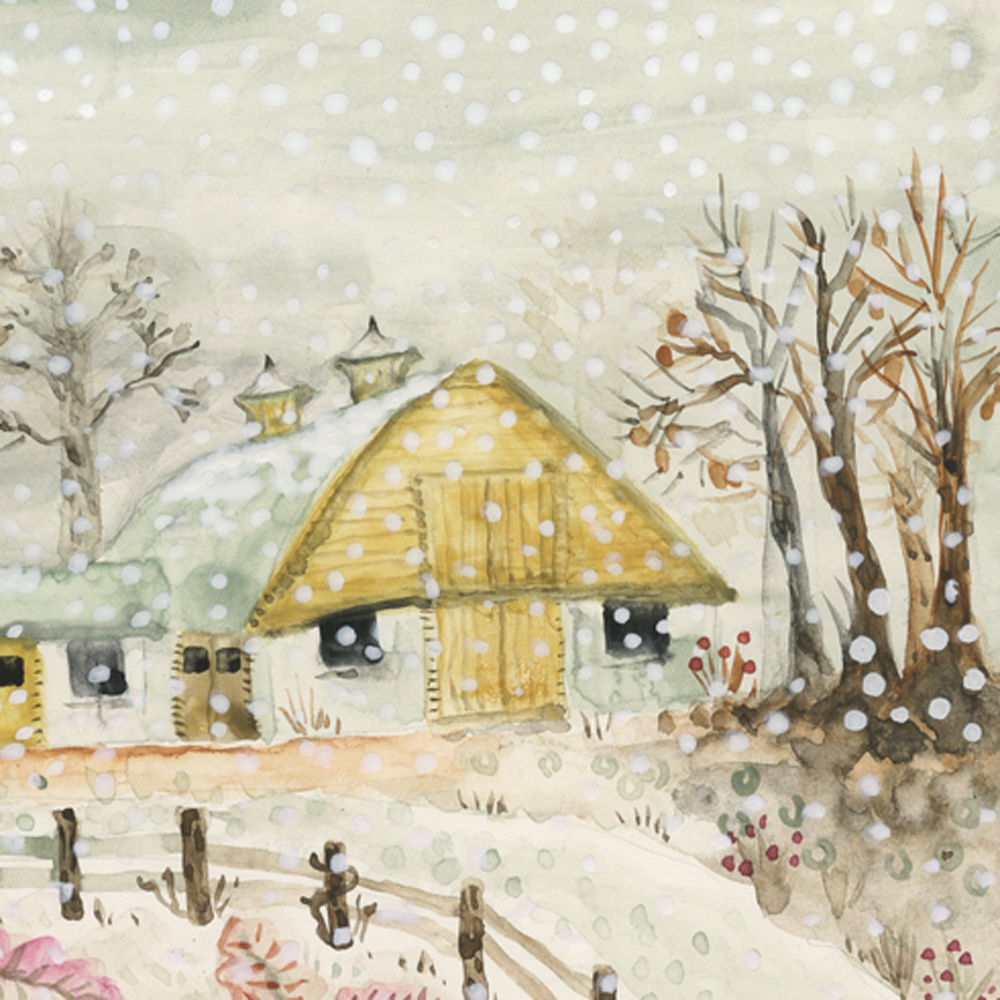 Winter Barns Detail