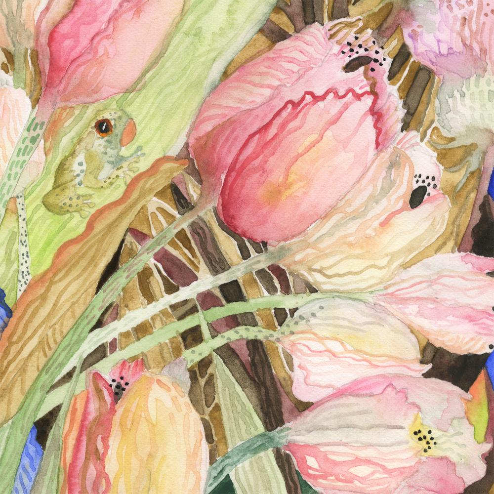 """""""Pink Tulips"""" detail"""