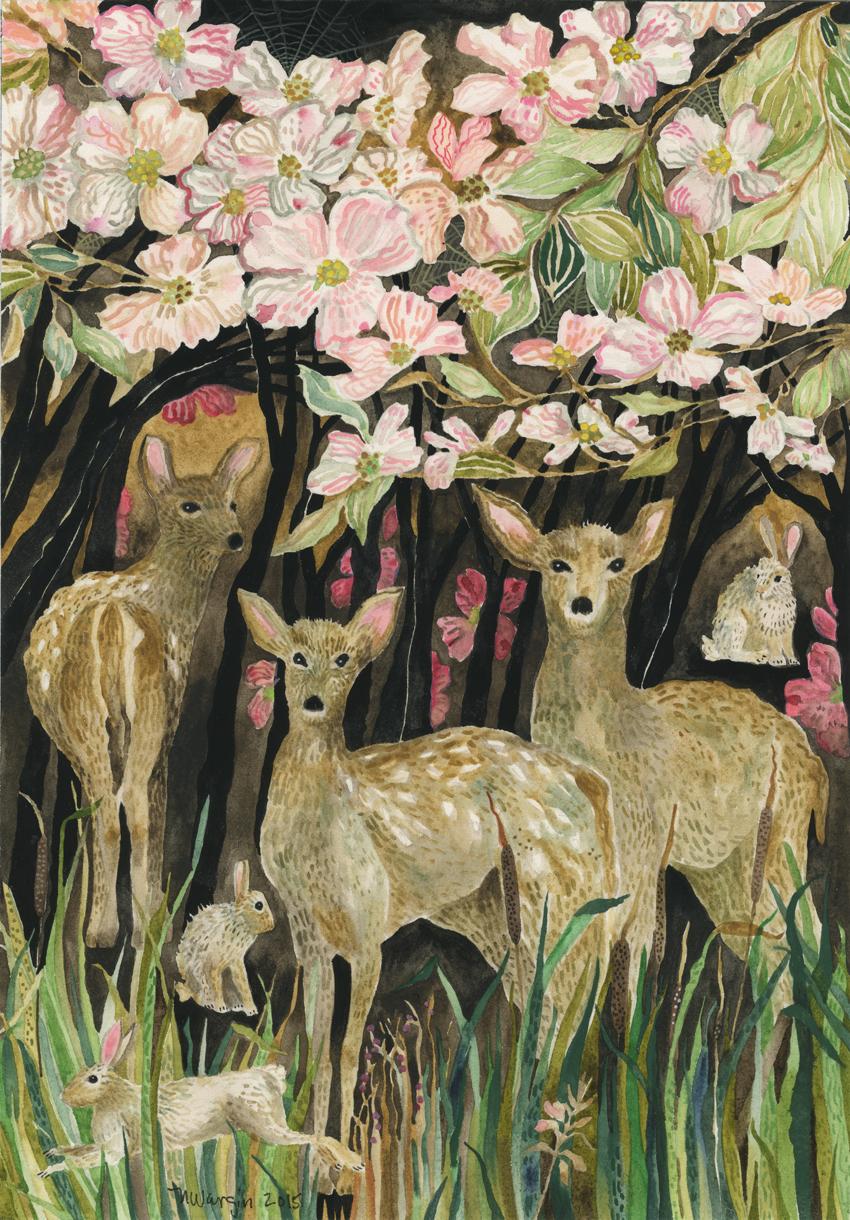 """Dogwood & Deer"""